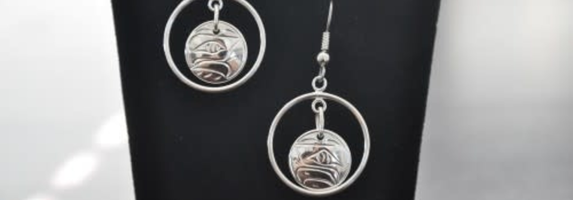 Hand carved Eagle Earrings By Nancy Dawson