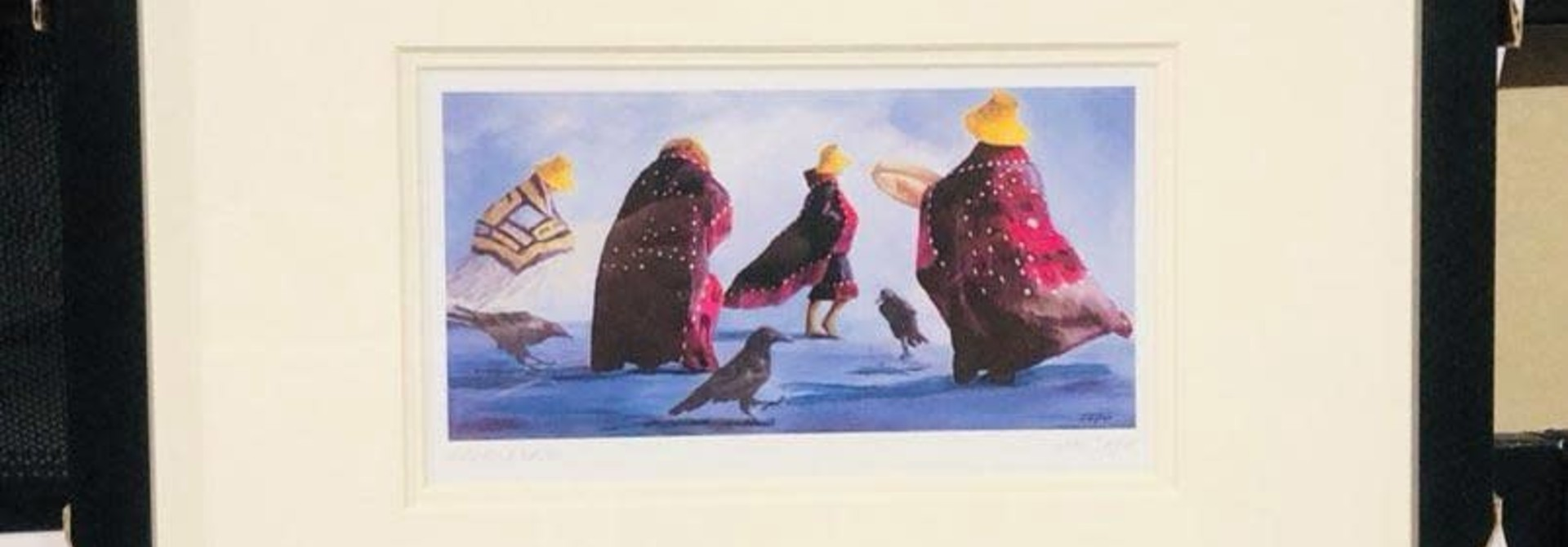 Framed and matted art card - including Raven by Jean Taylor