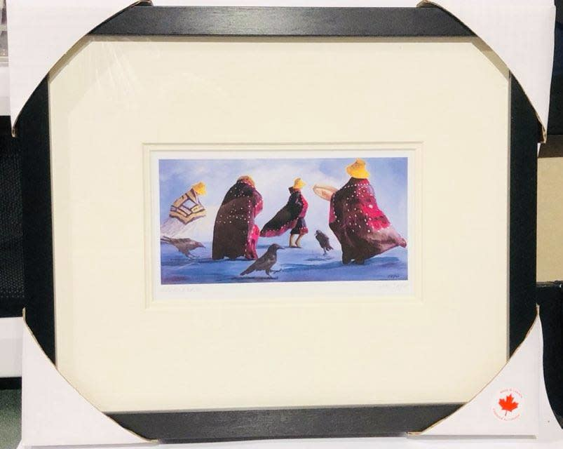 Framed and matted art card - including Raven by Jean Taylor-1