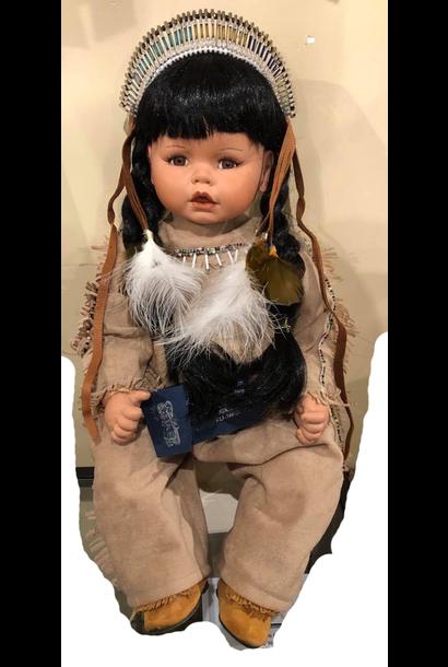 "Vintage Hand Painted 20"" Porcelain Doll"