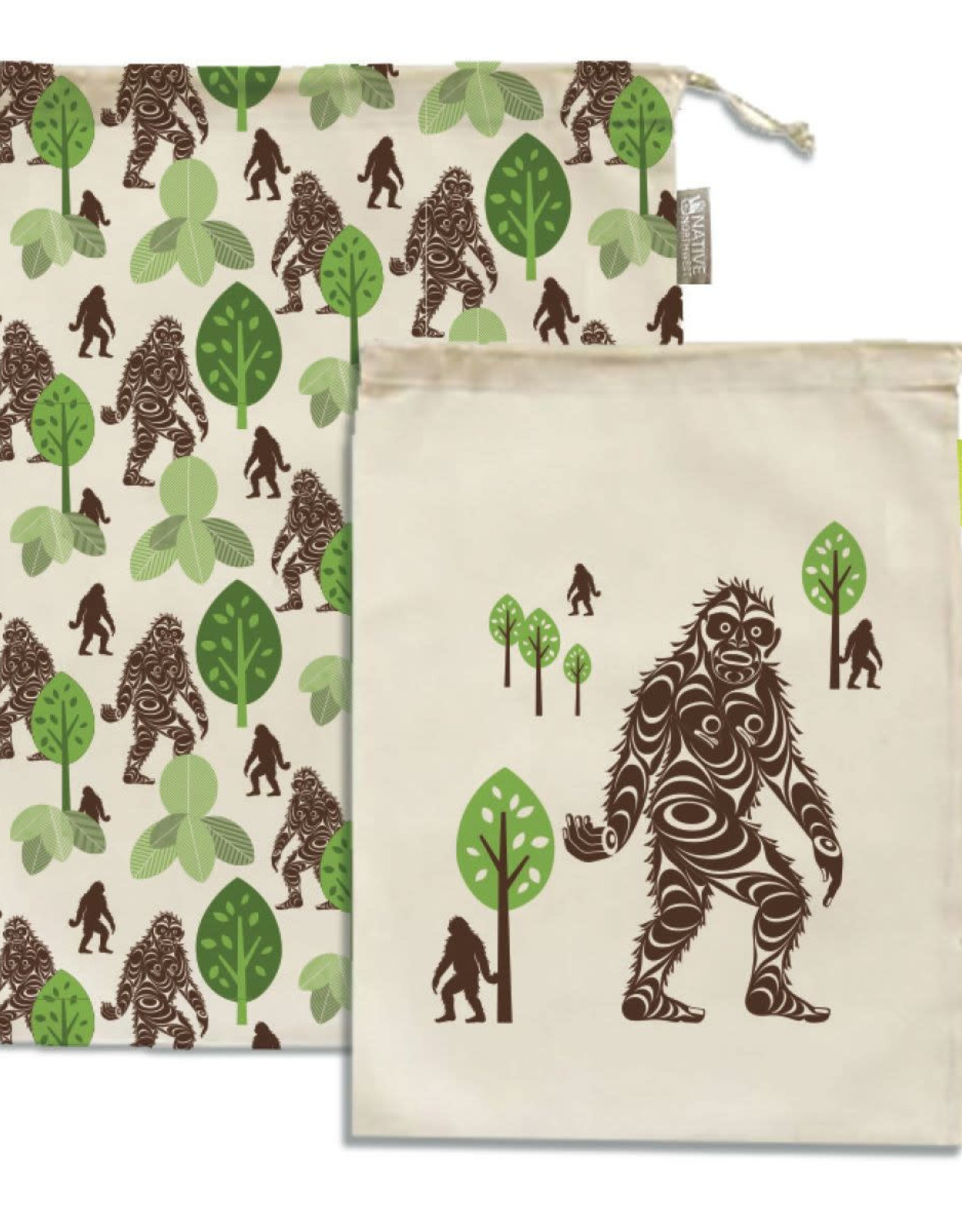 Reusable Produce Bags - Sasquatch by Francis Horne Sr.