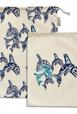 Reusable Produce Bags- Orca Family by Paul Windsor