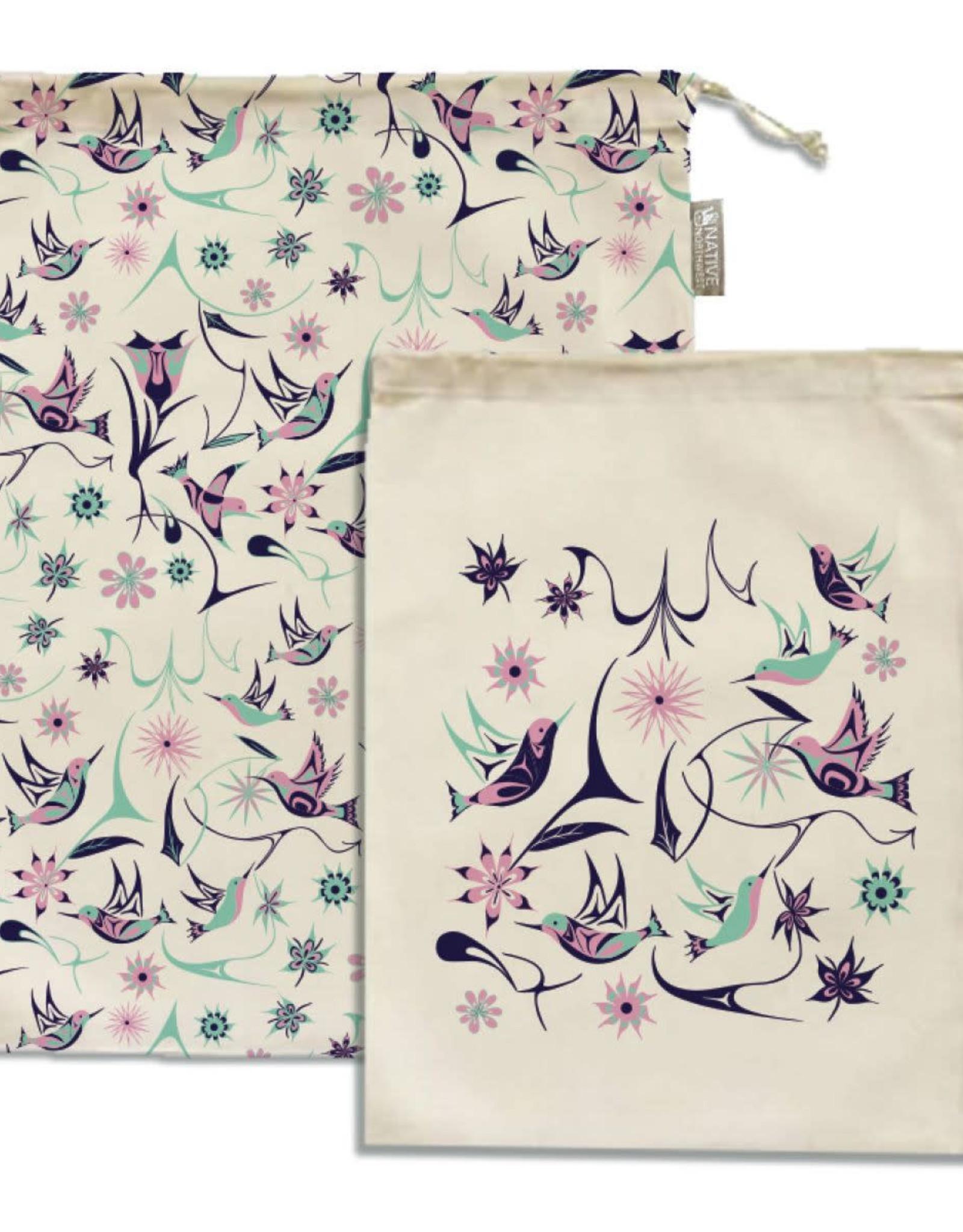Reusable Produce Bags - Hummingbird by Nikki LaRock