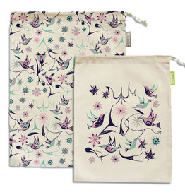 Reusable Produce Bags - Hummingbird by Nikki LaRock