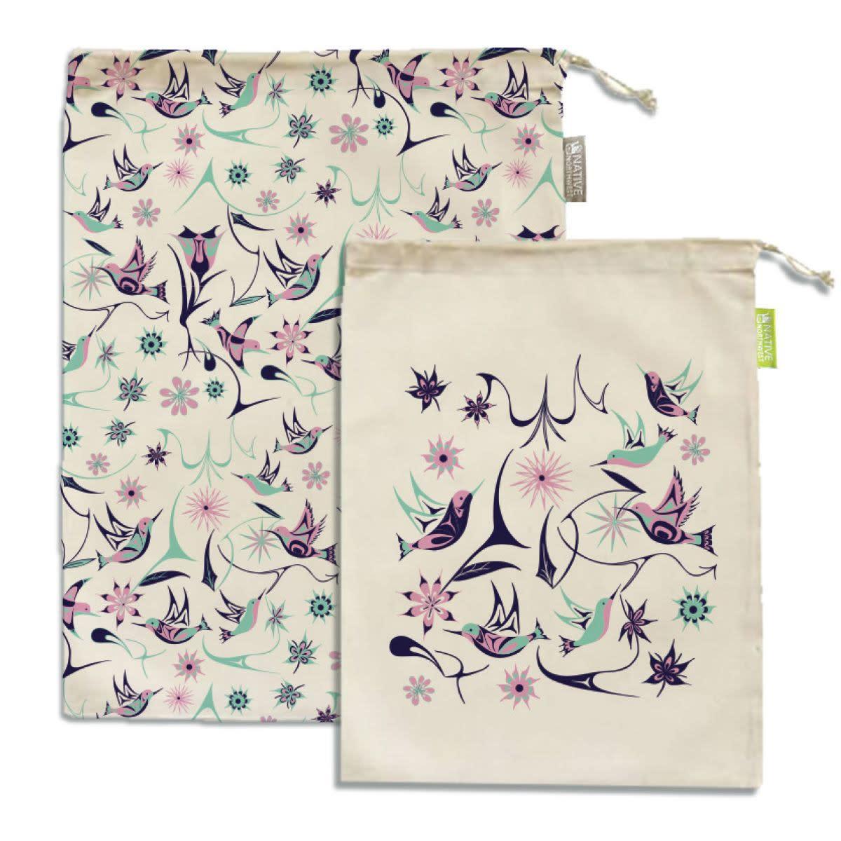 Reusable Produce Bags - Hummingbird by Nikki LaRock-1