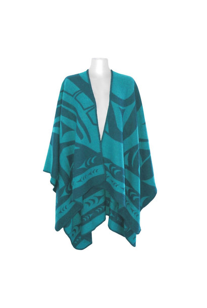 Reversible Wrap Teal - Whale by Doug Horne