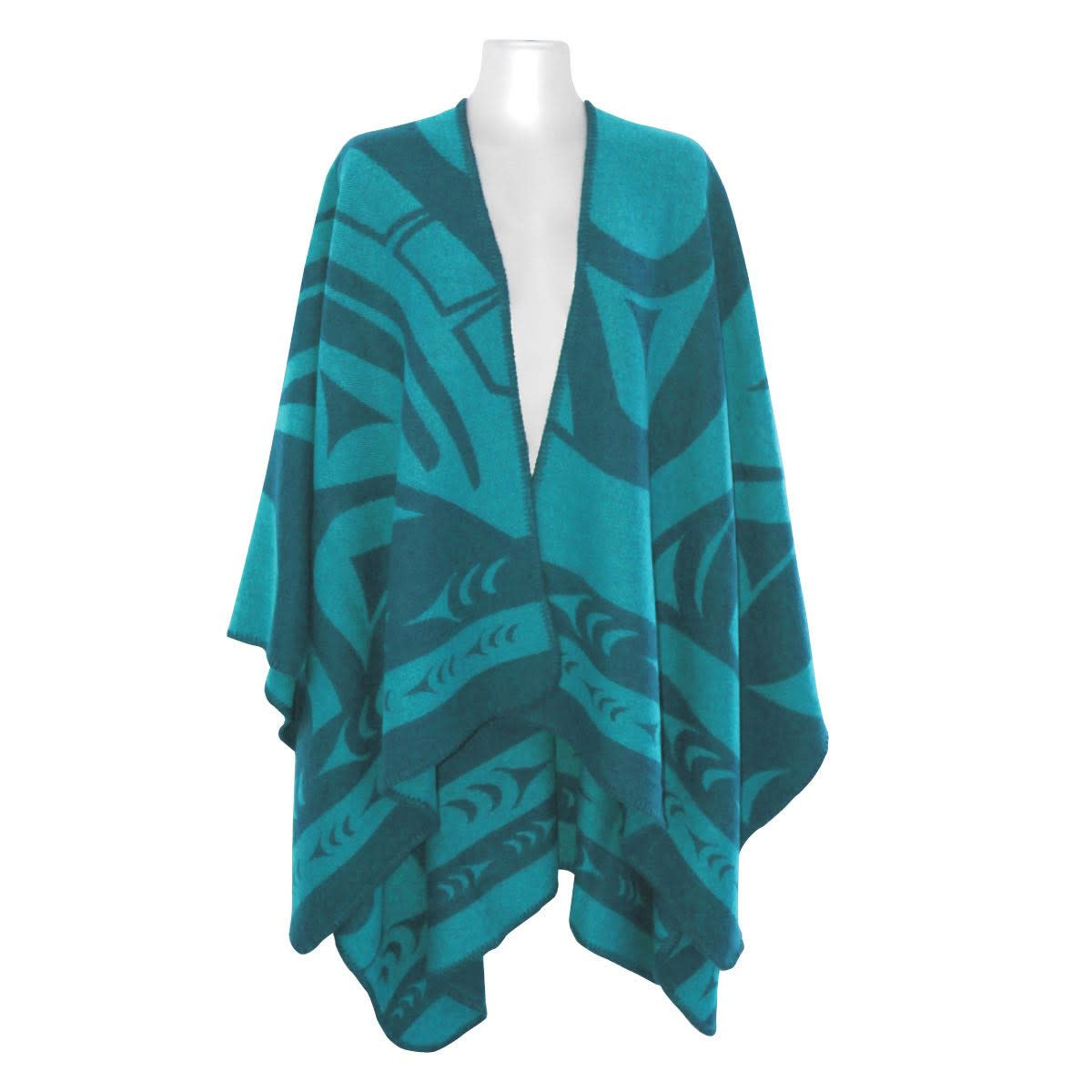 Reversible Wrap Teal - Whale by Doug Horne-1