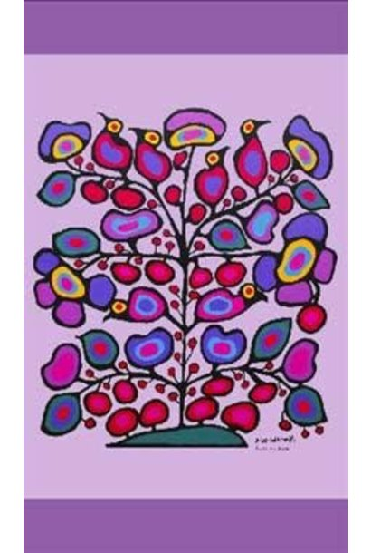 Woodland Floral Cotton Tea Towel by Norval Morris