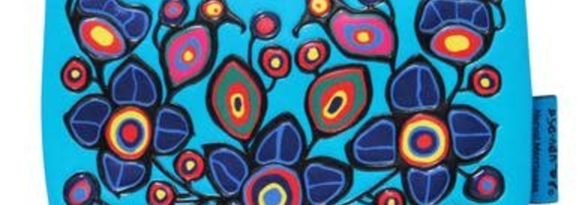 Coin Purse - Flowers & Birds by Norval Morrisseau
