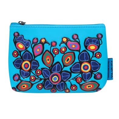 Coin Purse - Flowers & Birds by Norval Morrisseau-1