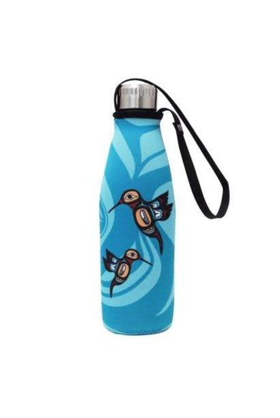 Water Bottle & Sleeve - Hummingbird