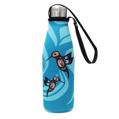 Water Bottle & Sleeve - Hummingbird-1