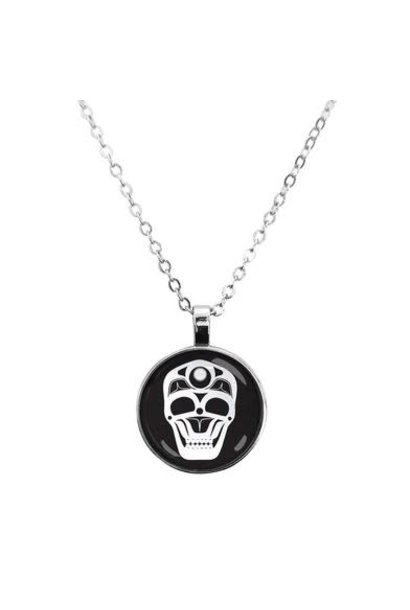 Dome Glass Necklace - Skull by James Johnson