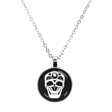 Dome Glass Necklace - Skull by James Johnson-1