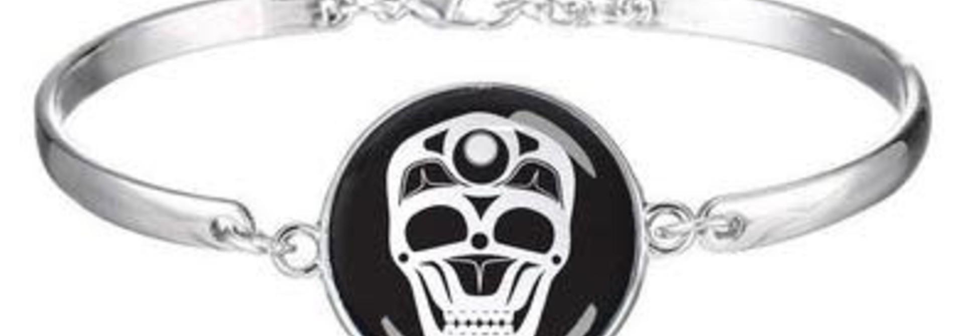 Dome Glass Bracelet - Skull by James Johnson
