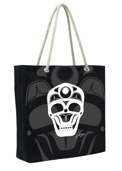 Eco Tote - Skull by James Johnson-2