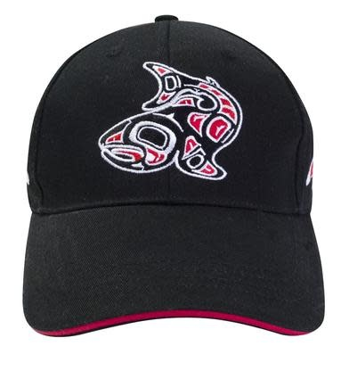 Embroidered Baseball Cap - Salmon by Jamie Sterritt-1