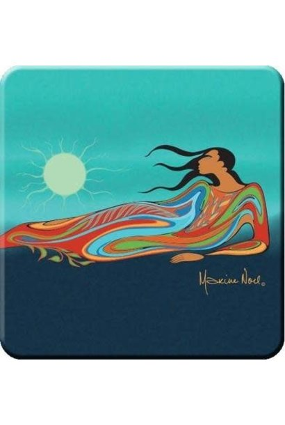 Coaster Set - Mother Earth by Maxine Noel