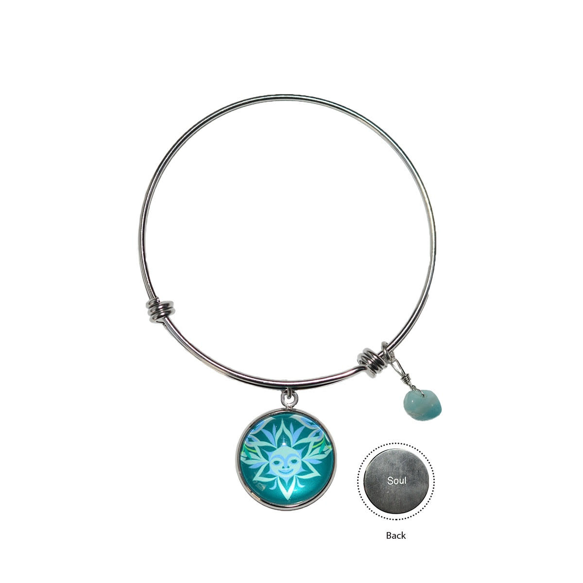 Circle Charm Bangle - Soul Blossom by Simone Diamond-1