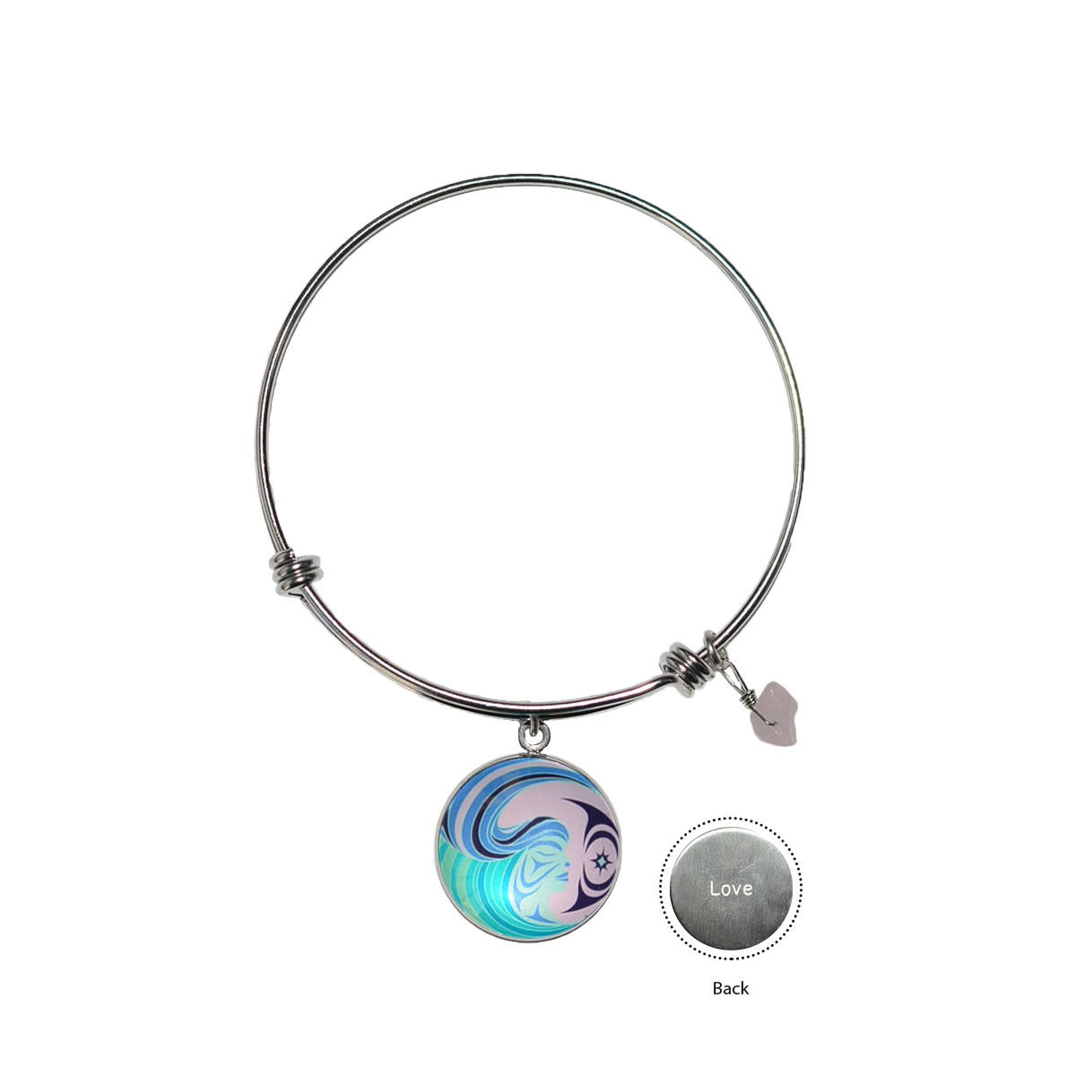 Circle Charm Bangle - Matriarchal Power by Simone Diamond-2
