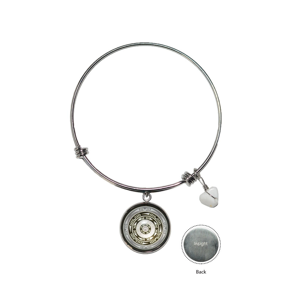 Circle Charm Bangle - Life by lessLIE-2