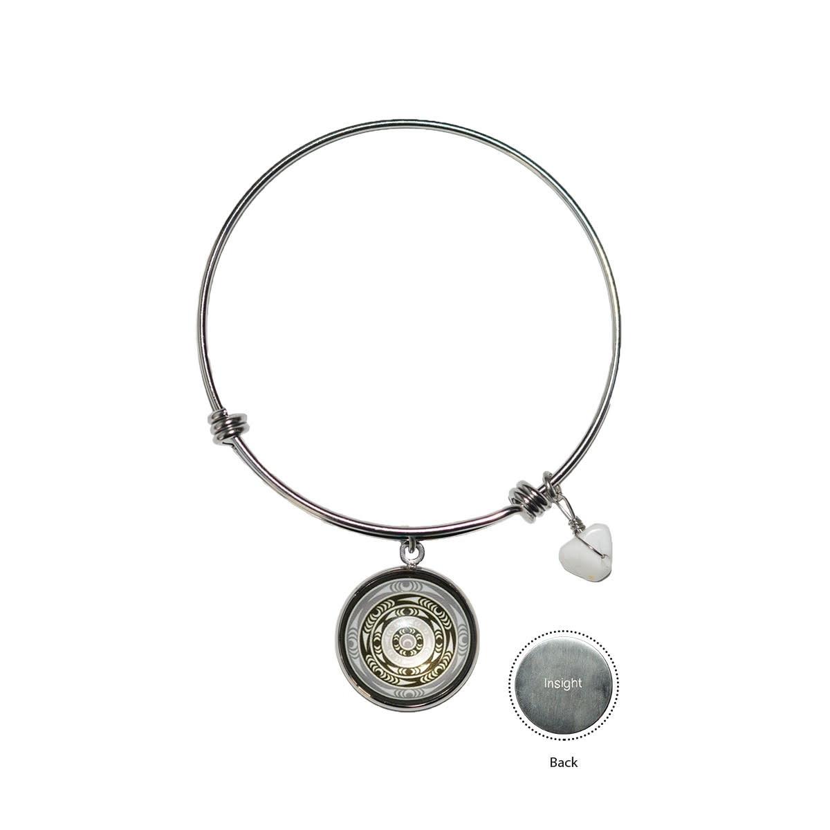 Circle Charm Bangle - Life by lessLIE-1