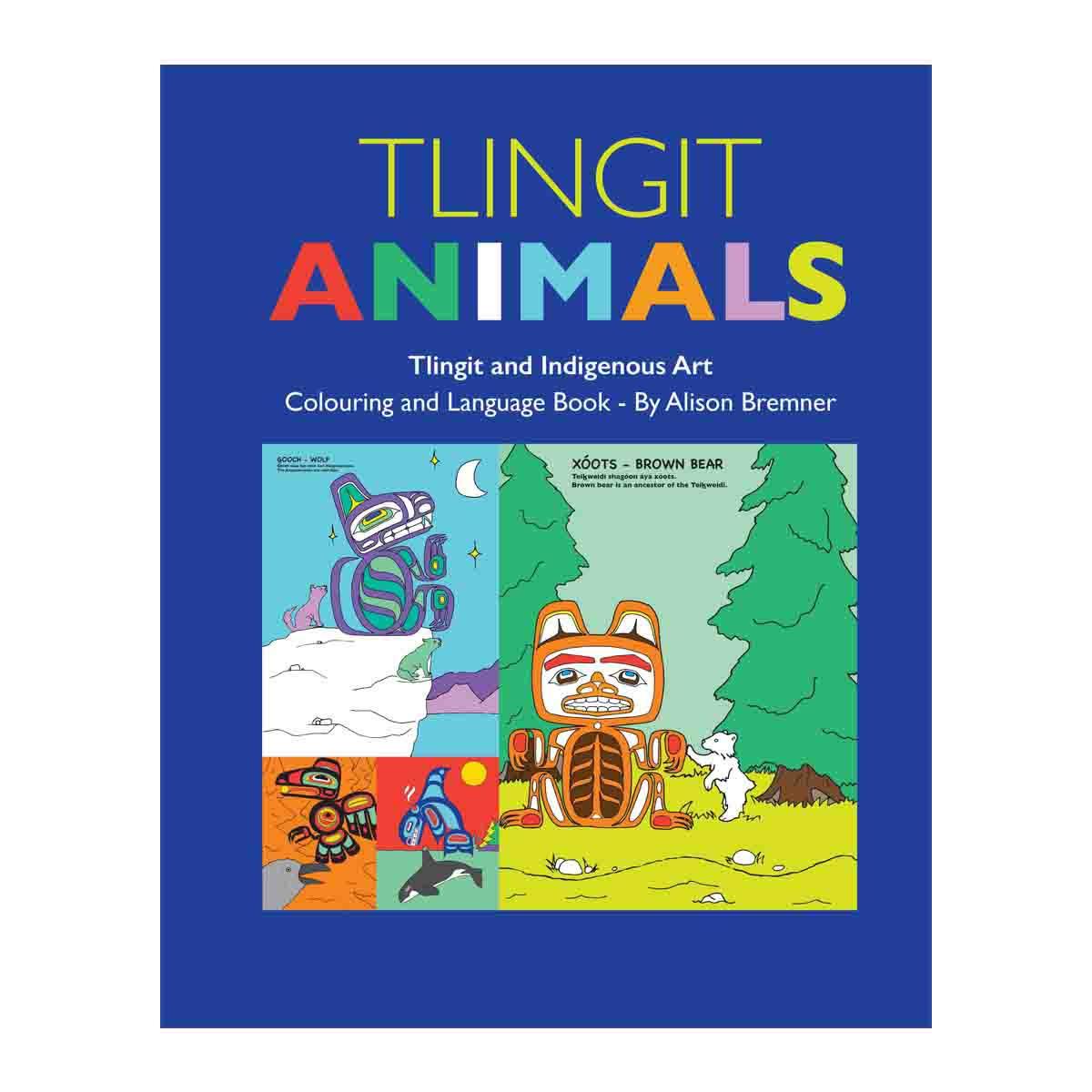 Tlingit Animals-Colouring ad Language Book-1