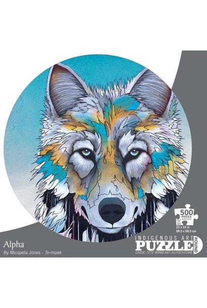 Circle Puzzle 500 pc. Alpha by Micqaela Jones