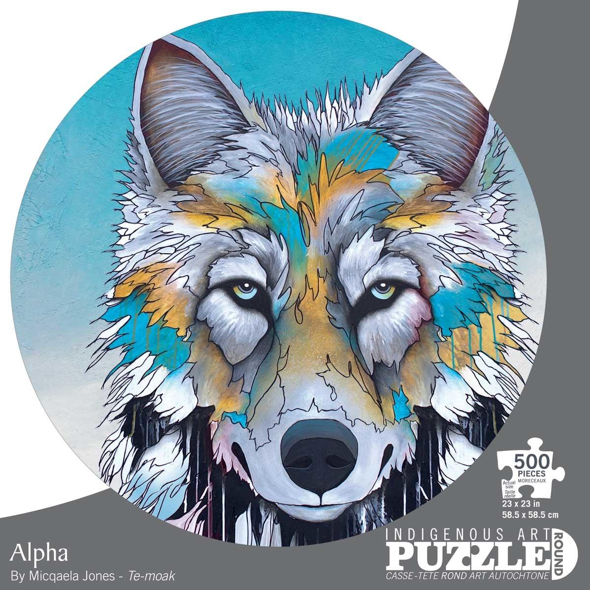 Circle Puzzle 500 pc. Alpha by Micqaela Jones-1