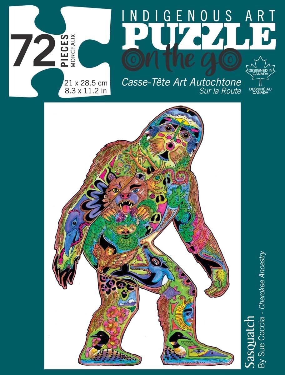 72 Piece Puzzle - Sasquatch by Sue Coccia-1