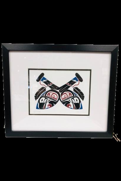 Framed Art Card-Eagle Paddles- Mervin Windsor
