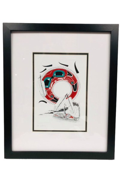 Framed Art Card- Longhouse- Danny Dennis