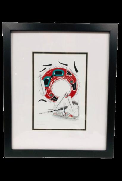 Framed Art Card- Longhouse- Danny Dennis