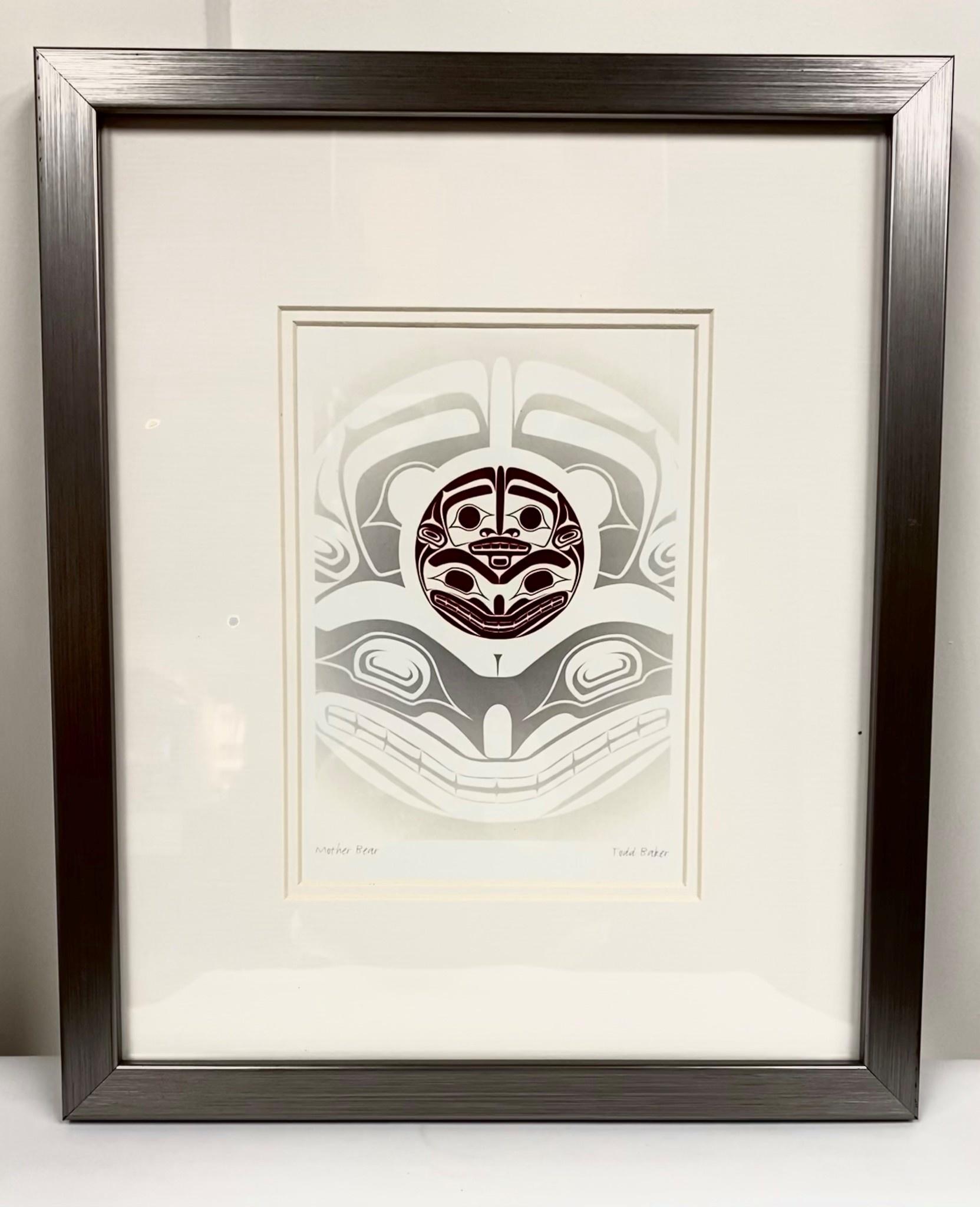 Framed Art Card- Mother Bear- Todd Baker-1