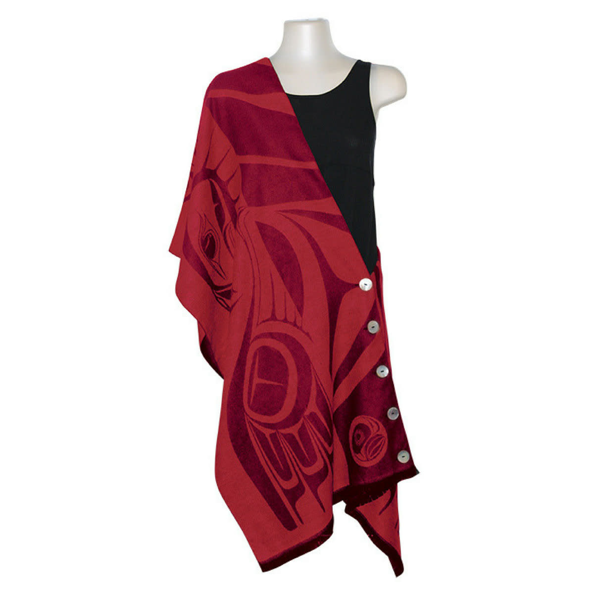 Button Shawl - Eagle by Paul Windsor-1