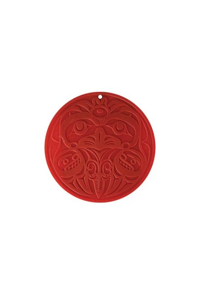 Round Silicone Trivet - Eagle by Bill Helin