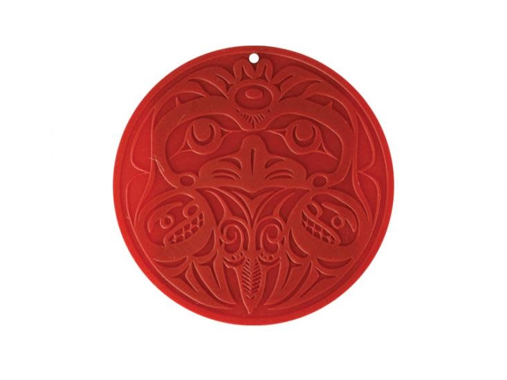 Round Silicone Trivet - Eagle by Bill Helin-1