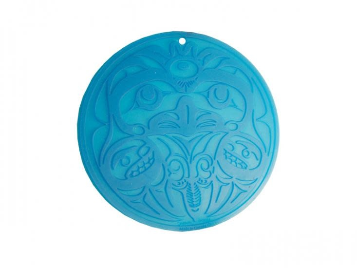 Round Silicone Trivet - Eagle by Bill Helin-2