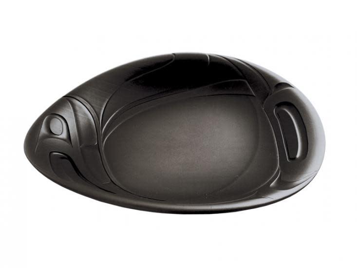 Large Namwayut Free Form Bowl - Black/ by Corrine Hunt-2