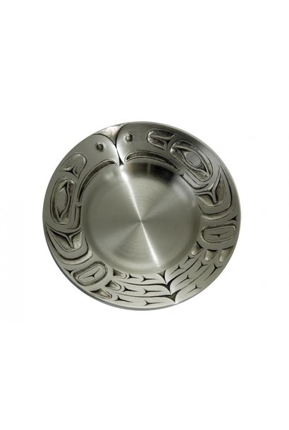 Small Pewter Plate - Raven by Mark Garfield