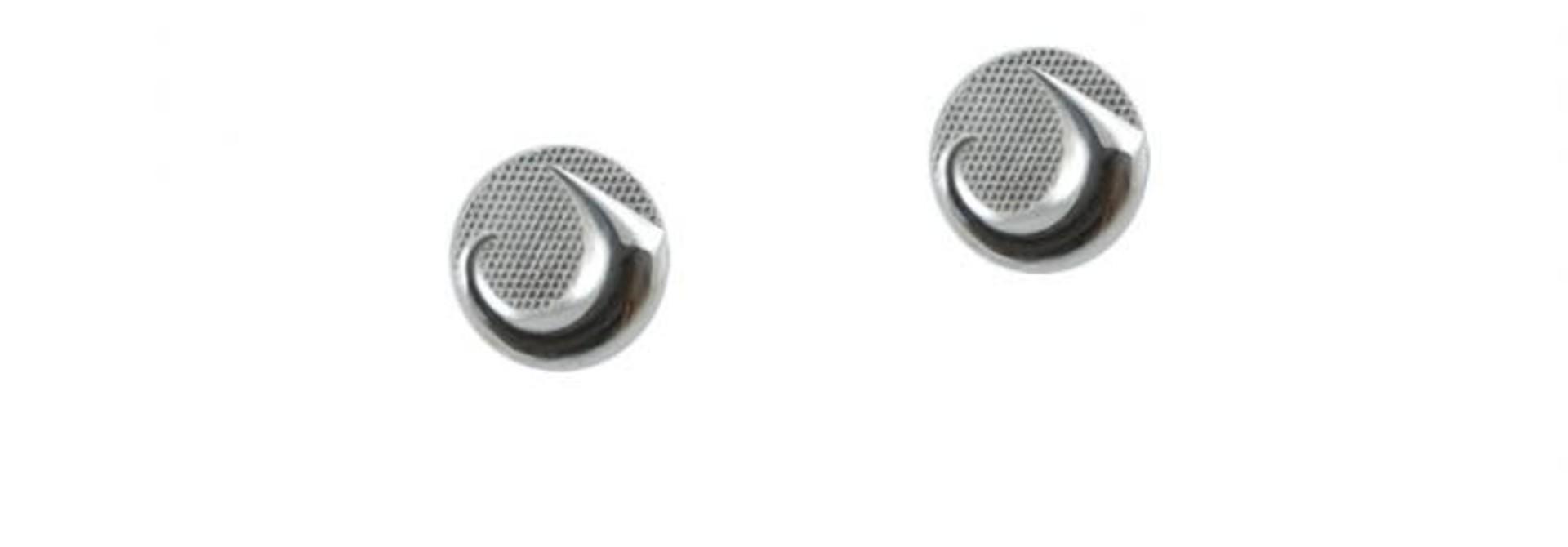 Silver Pewter Earrings - Land by Corrine Hunt