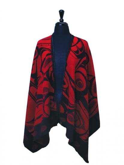 Orca Cape Red & Black - by Kelly Robinson-1