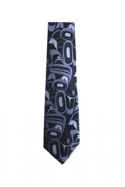 Silk Tie - Eagle by Kelly Robinson - Grey