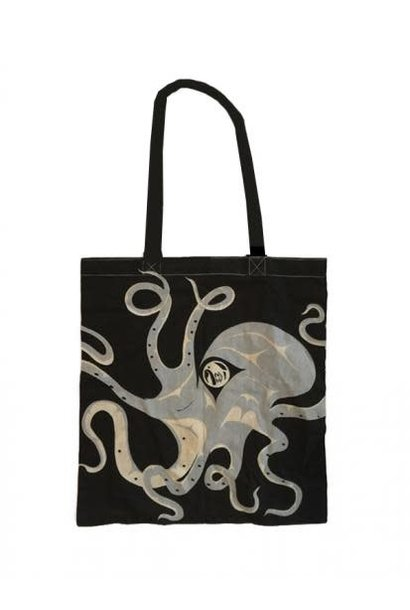 Cotton shopping bag - Octopus by Andrew Williams