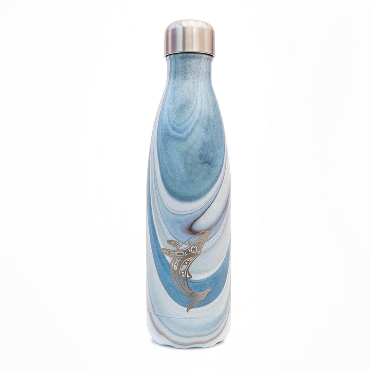 Insulated Water bottle Humpback Whale- Gordon White-1