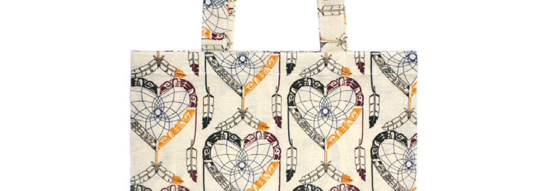 Cotton Eco Tote - Healing Eagle Heart by Mervin Windsor
