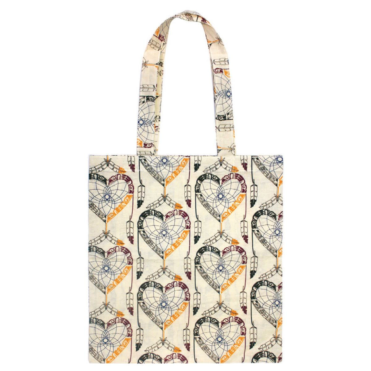 Cotton Eco Tote - Healing Eagle Heart by Mervin Windsor-1