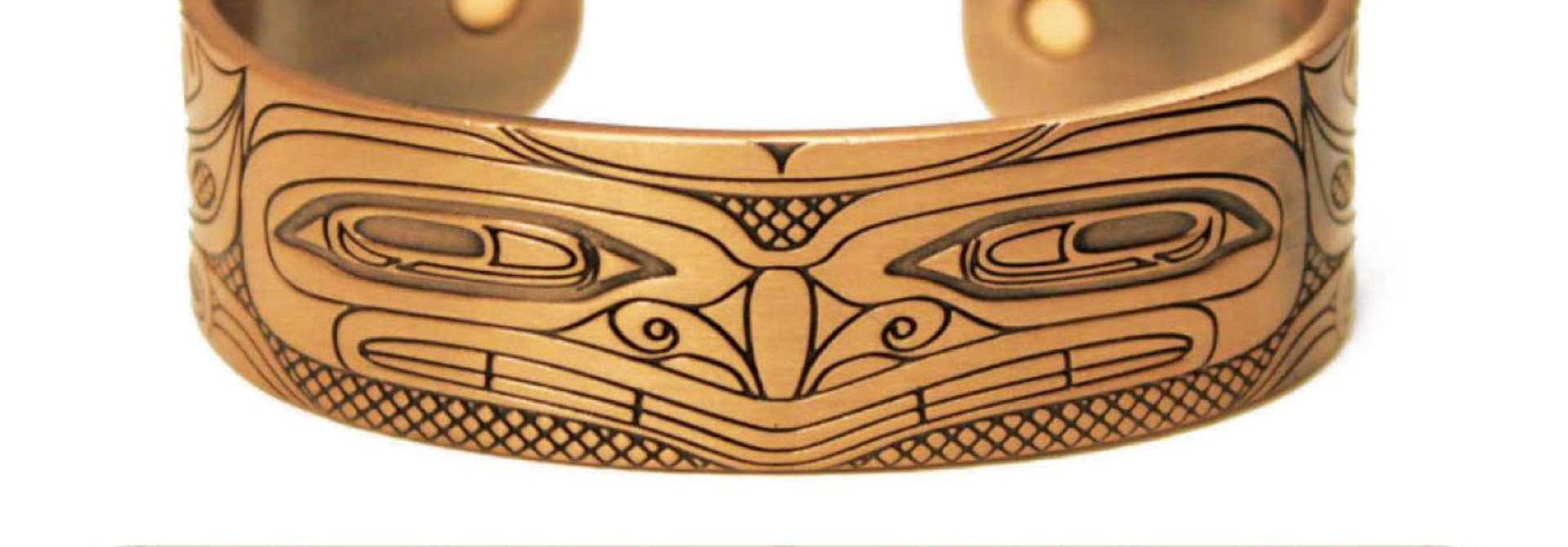 Copper Bracelet - Grizzly Bear by Andrew Williams