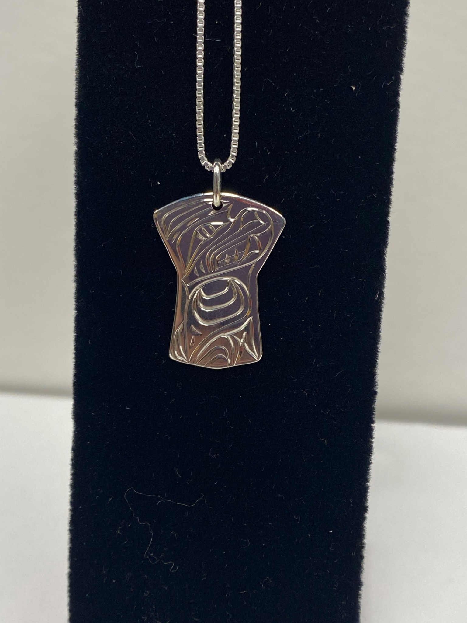 Silver Copper Shield Shape Necklace-1