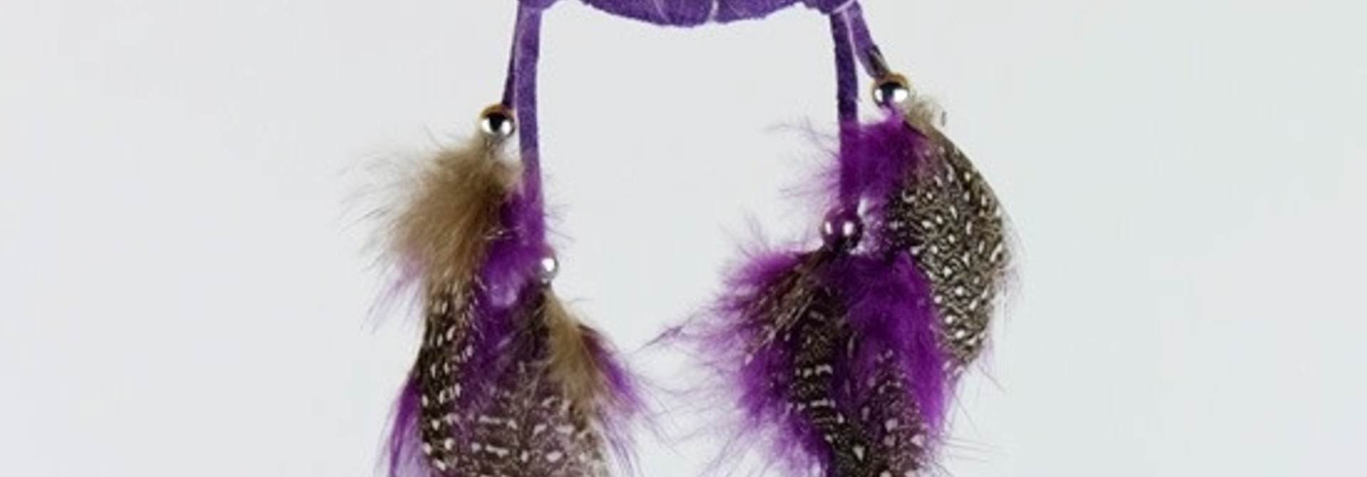 "2"" Dream Catcher with Semi Precious Stones-Purple"
